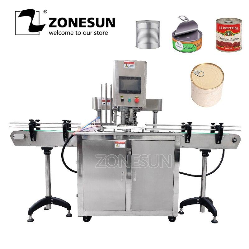 ZONESUN 110 V/220 V Automatische Elektrische Können Abdichtung Maschine Weißblech Sealer Doppel Motoren Kunststoff Dosen Capping Maschine