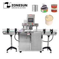 ZONESUN 110V/220V Automatic Electric Can Sealing Machine Tinplate Sealer Double Motors Plastic Cans Capping Machine