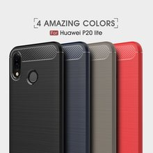 For Huawei P20 Pro Case For Huawei P20 Lite Case Soft Carbon Fiber Couqe For Huawei Nova 3e Y9 2018 P20 P10 Lite Cover Case(China)