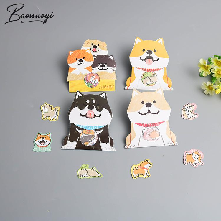 30PcsSet Cute Dog Animal Sticker Decoration DIY Scrapbooking Sticker Stationery Kawaii Diary Label Sticker School Supplies