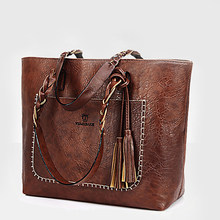 8bf4f5979974a 2017 Large Capacity Women Bags Shoulder Tote Bags bolsos New Women  Messenger Bags With Tassel Famous