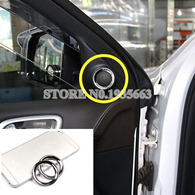 For Jeep Grand Cherokee Inner Car Door Audio Speaker Trim Cover 2011-2017 2pcs & For Jeep Grand Cherokee Inner Car Door Audio Speaker Trim Cover 2011 ...