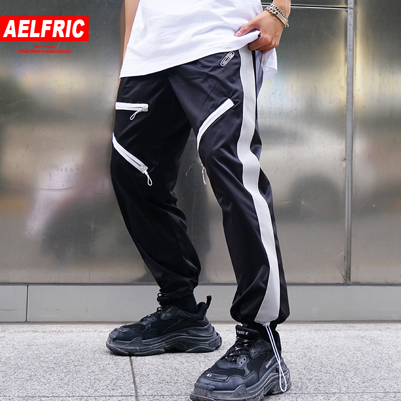 Aelfric 2018 New Design 3m Reflective Harem Pants Men Summer Fashion Casual Sweat Pants Streetwear Loose Hip Hop Joggers Zy23 Relieving Heat And Sunstroke