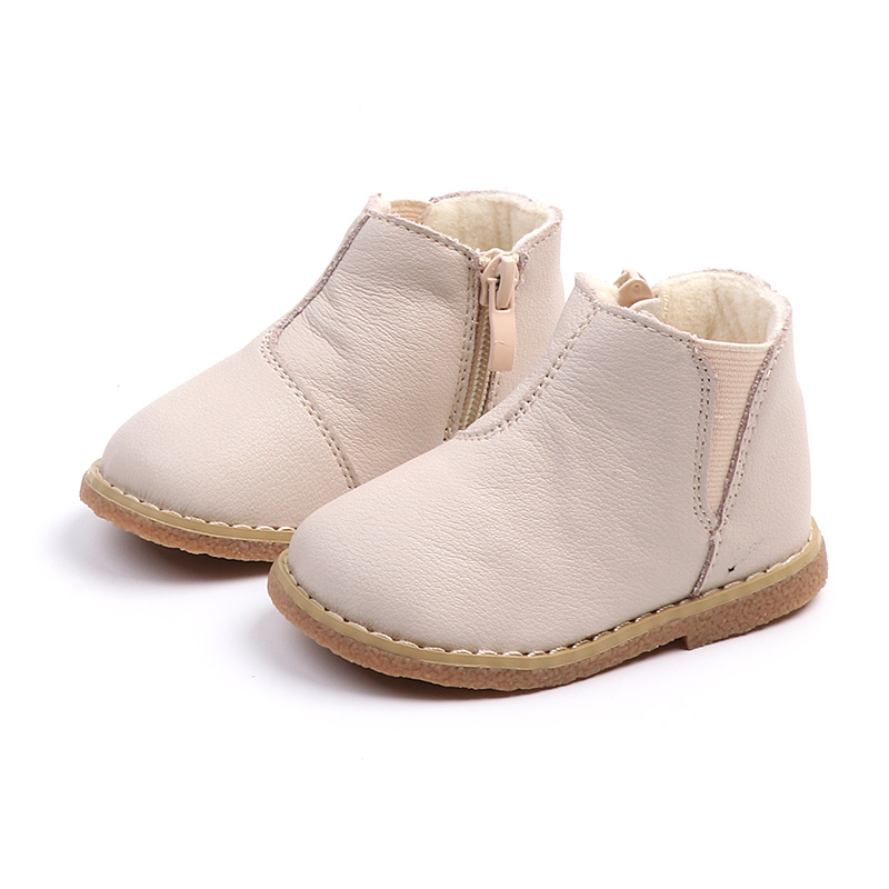 Warm Winter First Walkers 2018 New Baby Fashion Boots Solid Leather Toddler Baby Boy Shoes Black Brown Beige 1 years liko baby 303 с beige brown