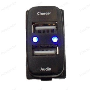 Специальное зарядное устройство для автомобиля, USB интерфейс, аудиовход, разъем для M/itsubishi L/ancer O/utlander P/ajero A/SX, 5 в 2,1 А