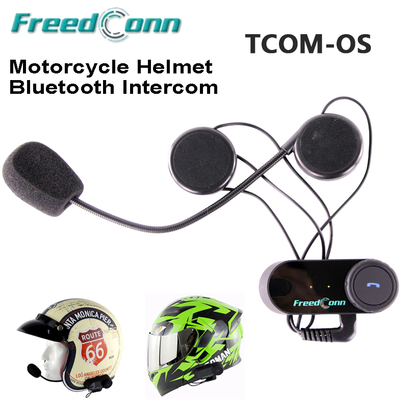 2 sets/lots Professionnel Moto Casco Casque Casque Bluetooth Interphone Moto Intercomunicador Interphone Freedconn TOM-OS