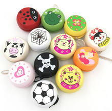 5cm Wooden Yo Yo Personality Creative Building Personality Sport Hobbies Classic Yoyo Classic Toys For Children Christmas(China)