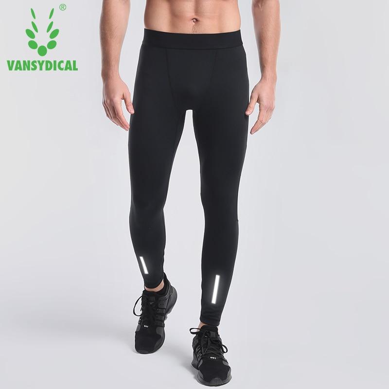 Vansydical Men Compression Pants Running Tights Men Sweatpants Jogging Leggings Fitness Gym Bodybuilding Sport Leggings Trousers