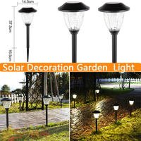 Stainless Steel Solar Energy Cracks Glass Lawn LED Lamp Outdoor Lighting Garden Home Security Outdoor Landscape
