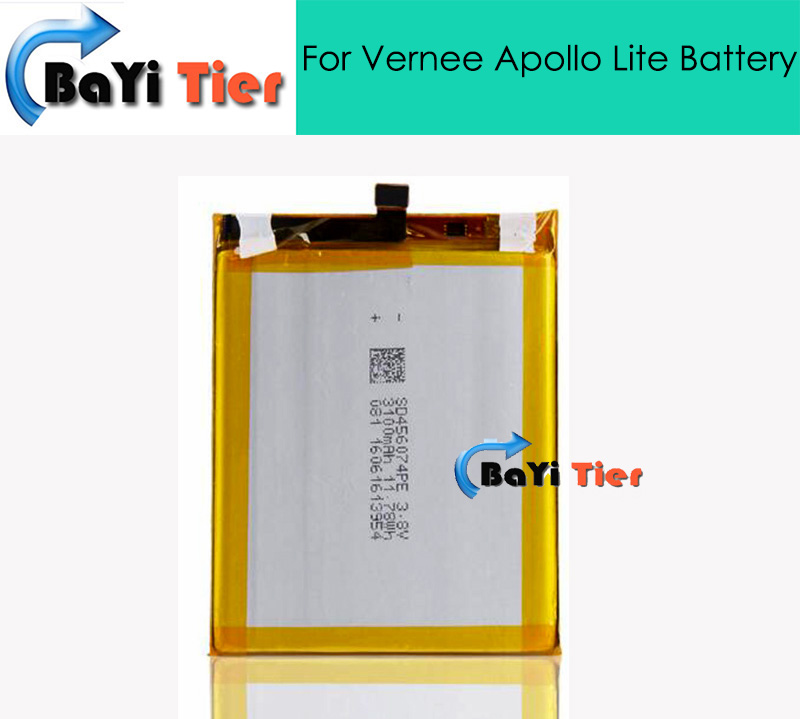 100 New High Quality For Vernee Apollo Lite Battery 3100mAh Replacement accessory Battery For Vernee Apollo