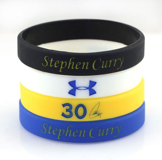 Custom Silicone Bracelet Personalized Basketball Bracelets Super Star Stephen Curry Signature Multi Colors For Men Lady