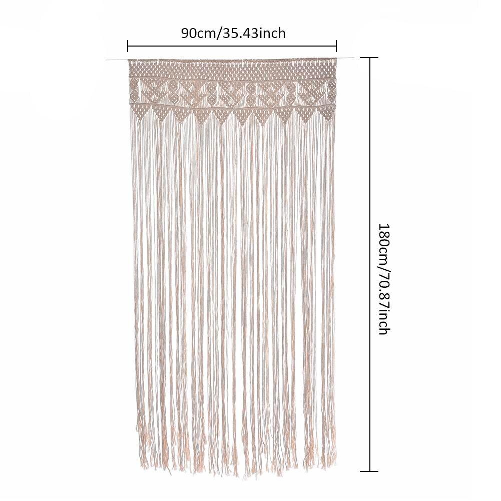 90*180 cm Macrame Puro Cotone Tessute A mano Arazzo di Nozze Festa Nuziale Sfondo Decorazione Appesa Tenda Esterna Del Prato Inglese
