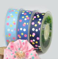 Snow yarn with DIY decoration ribbons 25mm wide and 100 yards per roll Printing color with dots WT059