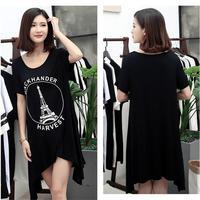 2017 Spring Plus Size Clothing Plus Size Mm Basic Skirt Long Sleeve Dress 200 6378 79