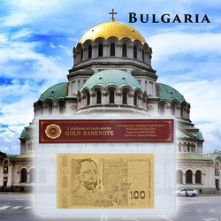 WR Болгарская валюта 100 лева Золотая банкнота в ПВХ держатель с COA копия бумаги деньги для коллекции домашний Декор Рождественский подарок
