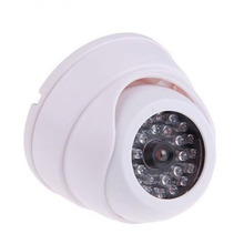 CCTV Fake IP Camera Dummy Surveillance Security Dome Mini Camera 30 Flashing LED Light Fake Camera Security Indoor Outdoor White