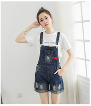 The New 2017 Summer Students Jeans Straps Pants Edge