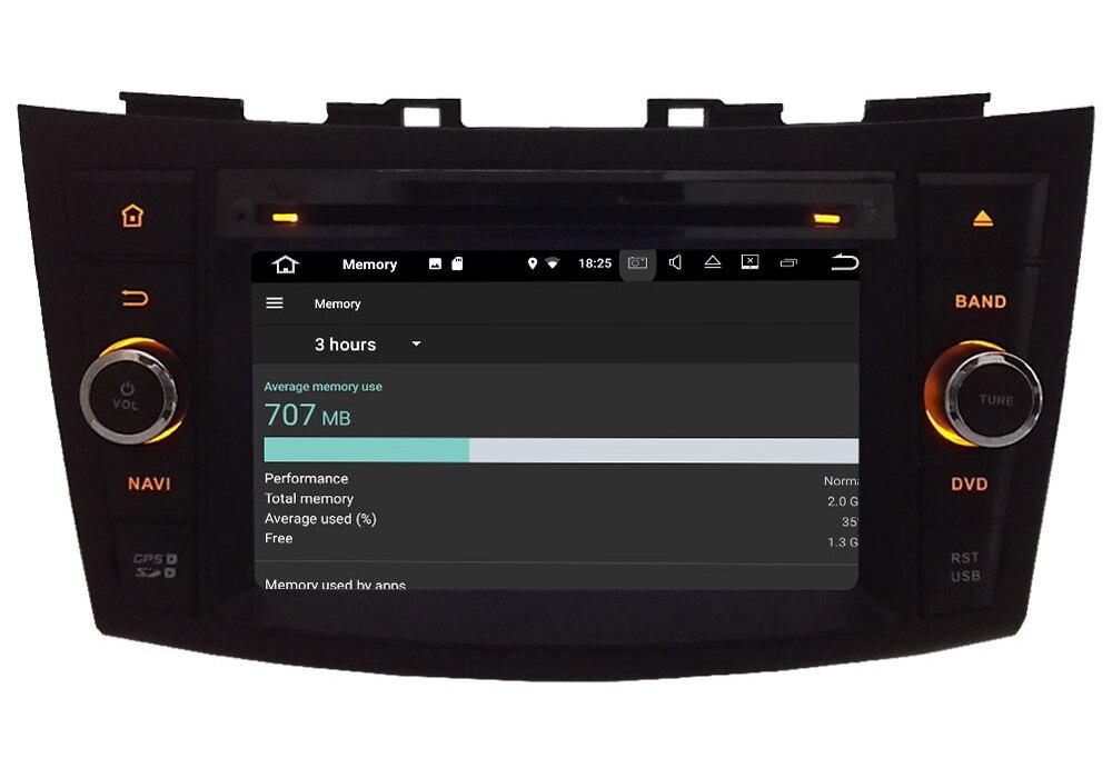 "7"" Android 7.1.2 Quad Core 2GB RAM 4G Wifi SWC DAB+ RDS Car DVD Player Radio Stereo For Suzuki Swift 2011 2012 2013 2014 2015"