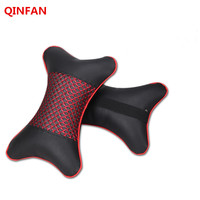 2 Pieces Of 4 Color PP Cotton Mesh Ice Silk Style Headrest Car Neck Pillow Supply