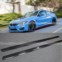 MTC Style M3 M4 Carbon Fiber Side Bumper Skirt for BMW F80 M3 F82 F83 M4 2012 2017 Auto Racing Car Styling Side Skirts Bodykit