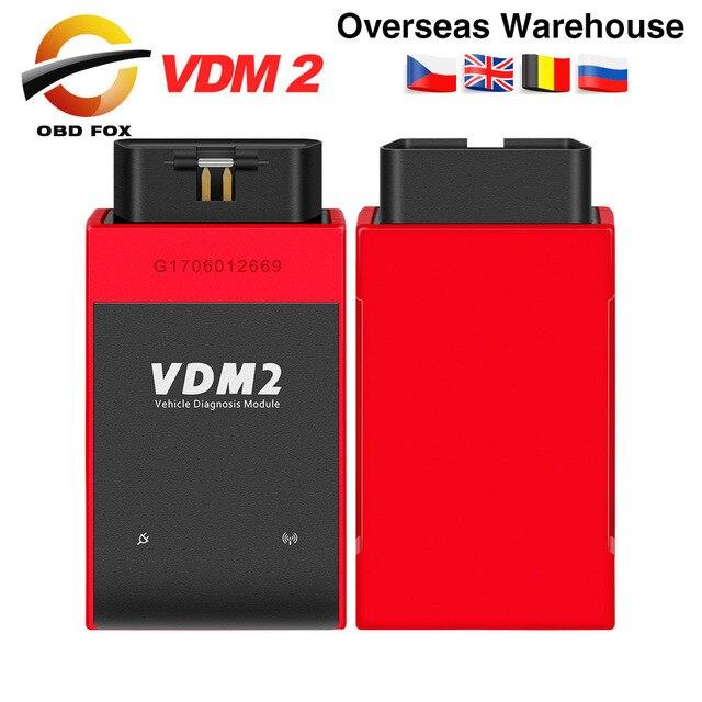 UCANDAS VDM2 VDM II UCANDAS WIFI Car Automotive Scanner VDM 2 V5.2 Support Multi Language and Android System Free shipping