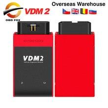 Ucanda escáner automotriz VDM2 VDM II para coche, dispositivo con WIFI, 2 V5.2 VDM, compatible con varios idiomas y sistema Android, Envío Gratis