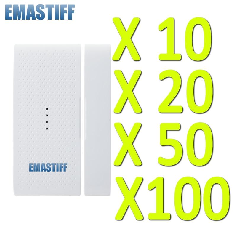 Livraison gratuite! détecteur de capteur de porte sans fil, contact magnétique, contact de porte, 433 mhz 1527 pour système d'alarme de sécurité domestique GSM PSTN