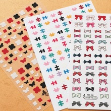 Newest TSC series 190 167 Bow-tie 3d stickers nail decal tempalte DIY decarations for wraps