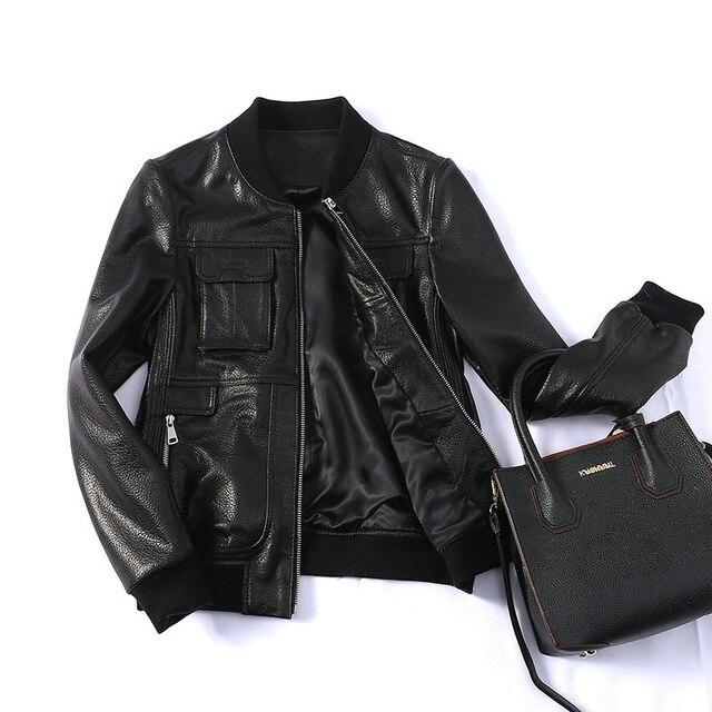 95744ed7be90 2018 кожаные куртки Турции женские дубленки куртка натуральная кожа куртка  Дубленки настоящие женские короткие кожаная куртка