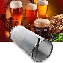 Filtro de malla de acero inoxidable para elaboración de cerveza, colador de malla de estilo hip Hop, con gancho, 4 tamaños