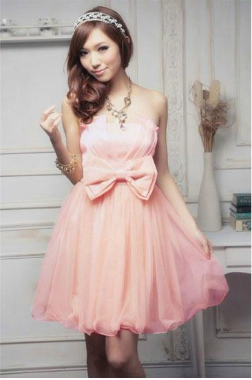 Robe de princesse courte rose