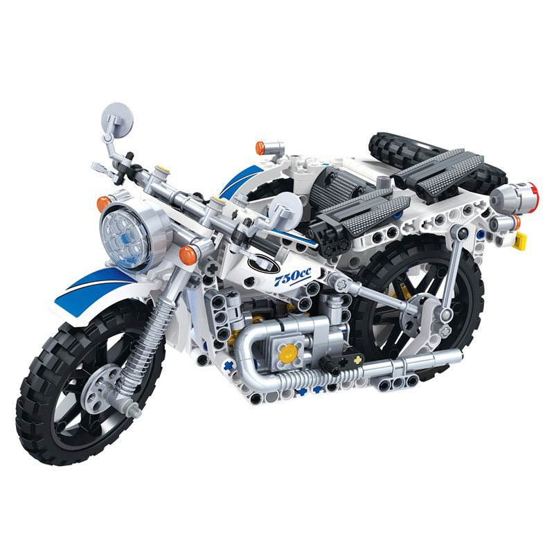 Image 4 - 550Pcs Technic Motorcycle Police Building Bricks Blocks Sidecar Motorcross Model Gift Compatible Technic Car Toys-in Blocks from Toys & Hobbies