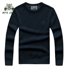 Winter Thick Men Sweater O neck Cashmere Pullovers High Grade New Warm Fashion Clothes Standard Tops For Male 105-115wy