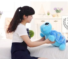middle lovely turtle doll plush turtle toy beautiful blue turtle toy gift doll about 45cm