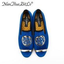 Handmade Classic Men Flat Loafers Shoe