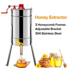 цены на Beekeeping 3 Frame Manual Honey Extractors Beekeeping Equipment Bee Honey Extractor 304 Stainless Steel Supplies Bee Tools в интернет-магазинах