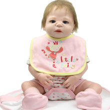 58CM /23Inch Reborn Babies Dolls Real Life Like Full Body Vinyl Silicone Baby Dolls Christmas Birthday Gift For Kids