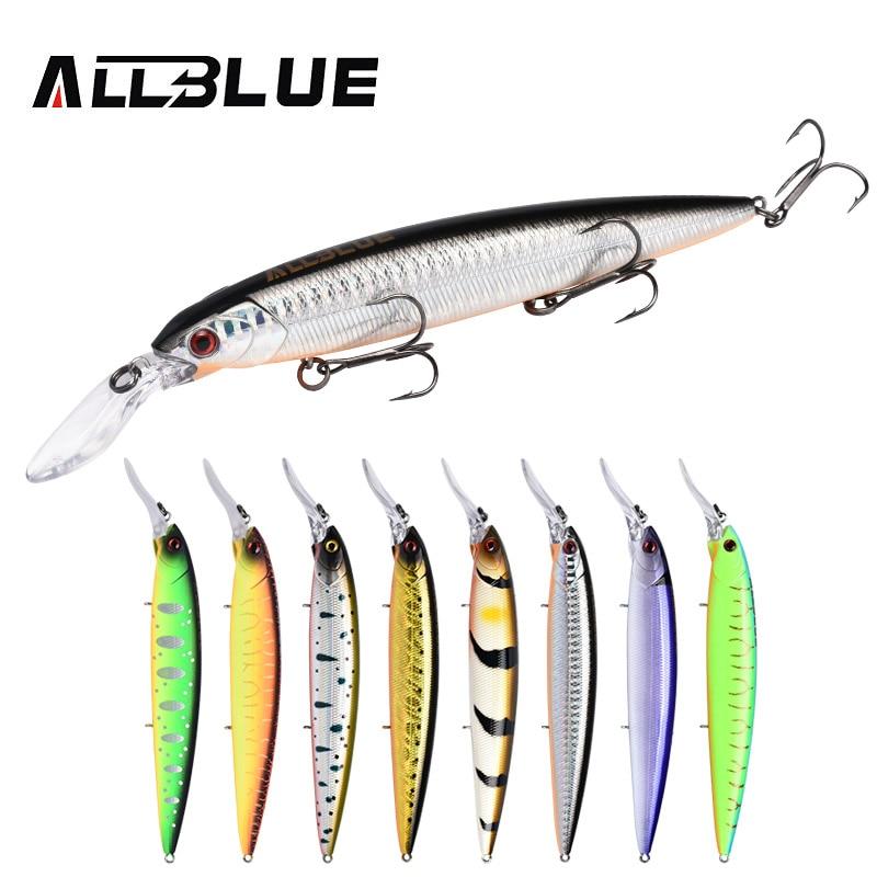 ALLBLUE GEKKO 132SF Rattle Wobbler Fishing Lure 132mm 21.8g Slow Floating Minnow Crankbait Bass Pike Bait Fishing Tackle