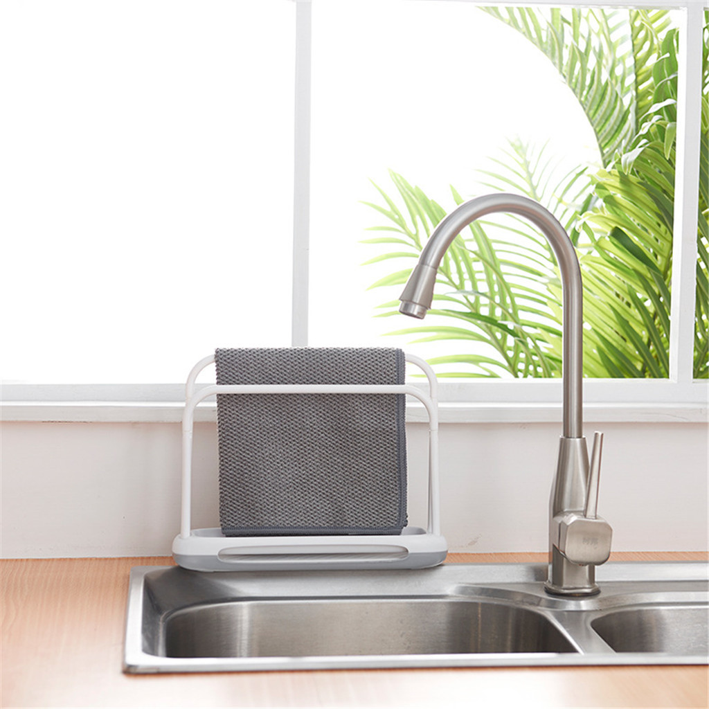 Innovative Plastic Kitchen Desktop Dishwasher Cloth Dryer Drain Rack Rag Holder Double-Layer Drain Rack Suitable Kitchen Bathroo