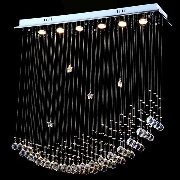 Free Shipping Simple Fashion Modern LED Moon Ship Crystal Chandeliers  Lights Dining Room Chandeliers Lamp Customizable In Chandeliers From Lights  U0026 Lighting ...