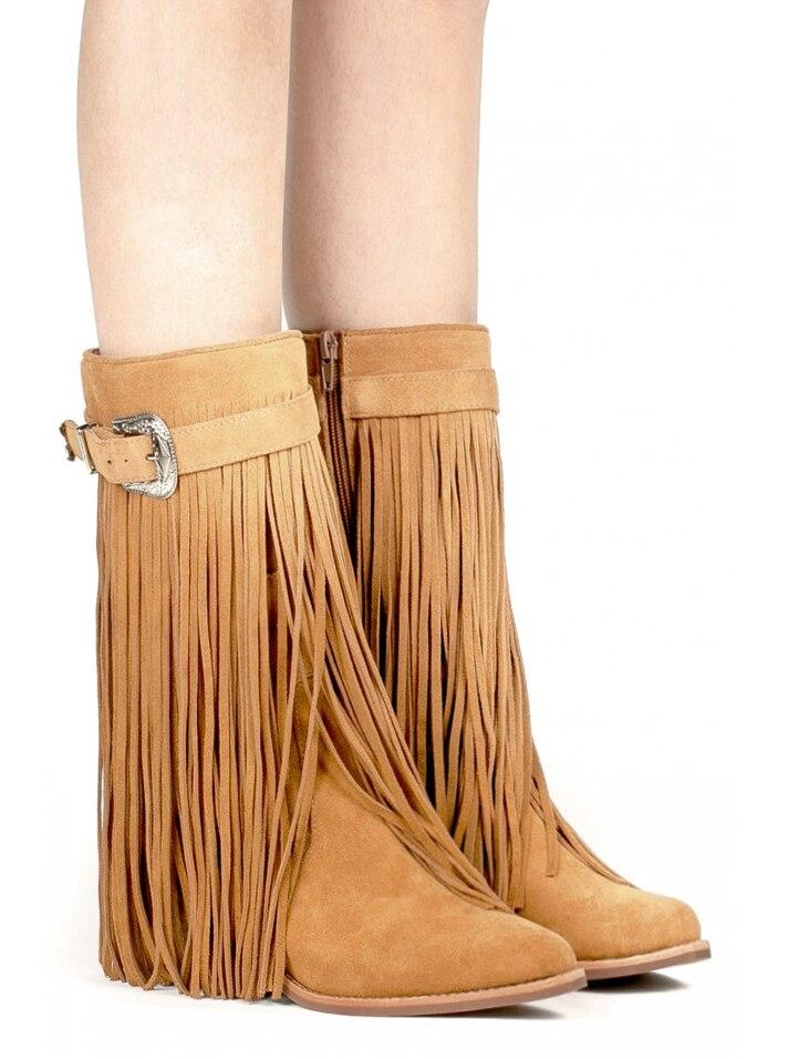 Low Fringe Boots
