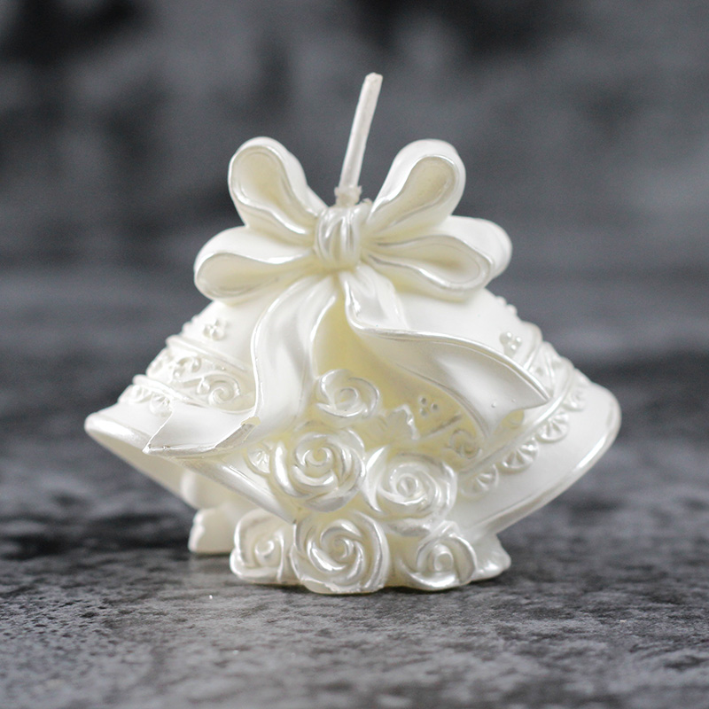 Nicole Silicone Candle Mold For Candle Making Candle Form 3D Christmas Bell Shape Handmade Craft Soap Mould