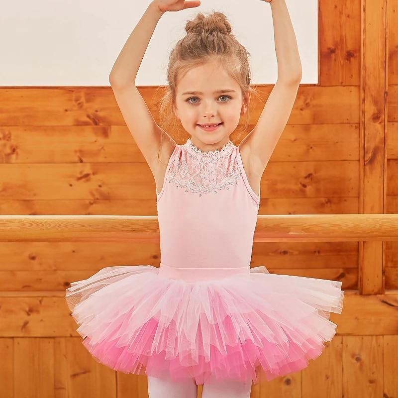 Girl Ballet Leotard Dance Dress Toddler Gymnastics Tutu Skirt Costumes Dancewear