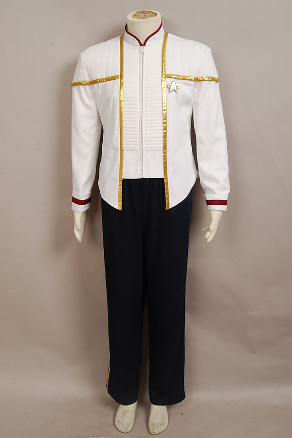 Star Trek Captain Picard Cosplay Costume Insurrection Nemesis Mess White Uniform picard портмоне picard 8828 043 055 cafe