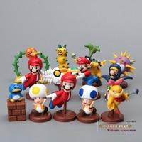 Free Shipping Super Mario Bros Mushroom Mary Koopa PVC Action Figure Model Toys Dolls 13pcs Set