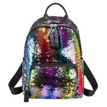 Блестящий подростковый маленький рюкзак для девочек, дорожная сумка через плечо, женская сумка с блестками, хит цвета, школьный рюкзак для студентов, Ранец#9