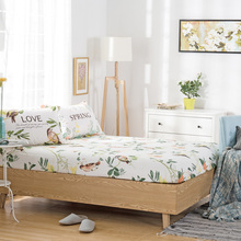 Home Textile 100% cotton Bedding Set Natural fresh pattern Sheet High quality selection of cotton Contact with skin comfortable