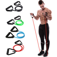 120cm Yoga Pull Rope Elastic Resistance Bands Fitness Crossfit Workout Exercise Tube Practical Training Rubber Tensile Expander(China)