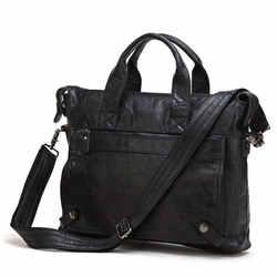 Nesitu хорошее качество Винтаж Для мужчин Пояса из натуральной кожи Портфели сумка-портфель Бизнес дорожная сумка 14 ''ноутбук сумка # m7120