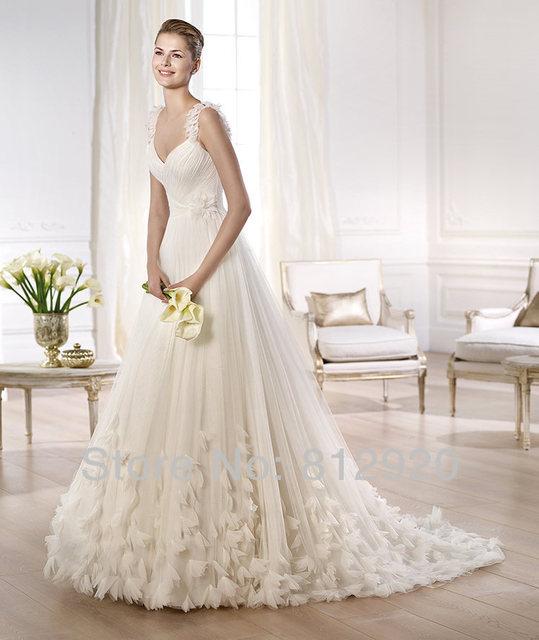 Sweetheart Rosettes Skirt A Line Wedding Dress